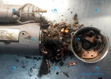 Разрушение моторной части